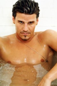 David Boreanaz in the tub.