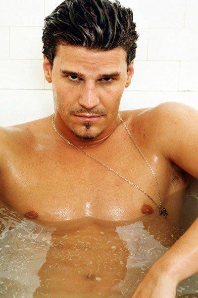 David Boreanaz in the tub.